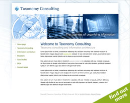 find out more about the Taxonomy Consulting website design