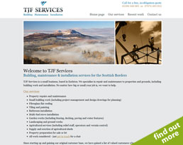 find out more about the TJF Services website design