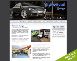 find out more about the Westend Garage website design