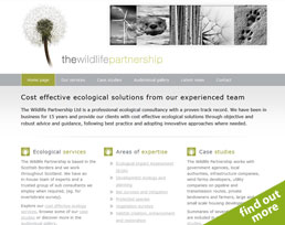 find out more about the The Wildlife Partnership website design